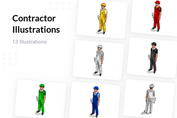 Contractor Illustration Pack