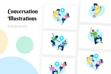 Conversation Illustration Pack