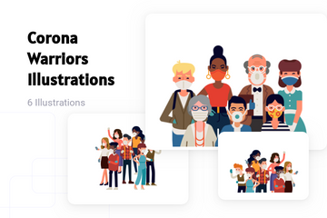 Corona Warriors Illustration Pack