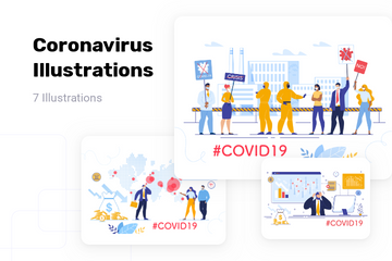 Coronavirus Illustration Pack