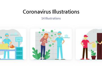 Coronavirus Illustration Pack