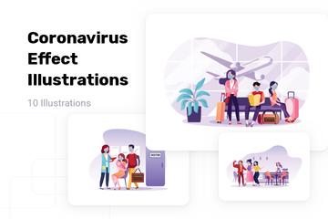 Coronavirus Effect Illustration Pack
