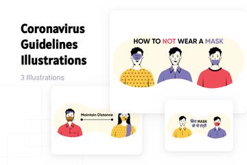 Coronavirus Guidelines Illustration Pack