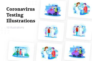 Coronavirus Testing Illustration Pack