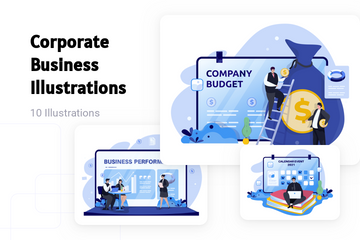 Corporate Business Illustration Pack