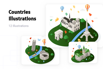 Countries Illustration Pack