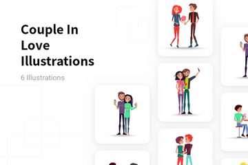 Couple In Love Illustration Pack