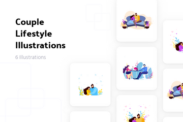 Couple Lifestyle Illustration Pack