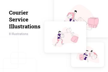 Courier Service Illustration Pack