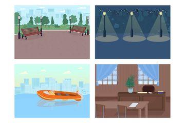 Crime Places Illustration Pack