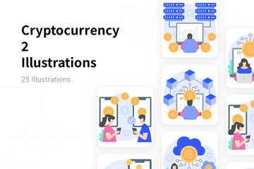 Cryptocurrency 2 Illustration Pack