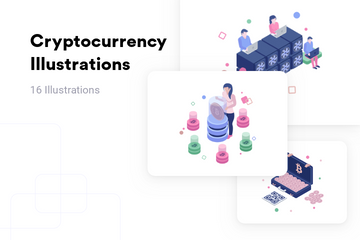 Cryptocurrency Illustration Pack