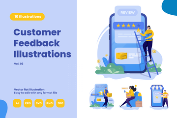 Customer Reviews Illustration Pack
