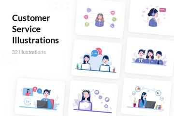 Customer Service Illustration Pack