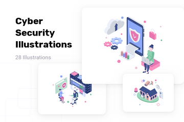 Cyber Security Illustration Pack