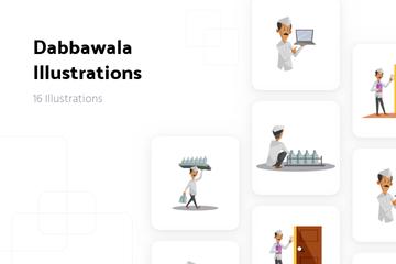 Dabbawala Illustration Pack