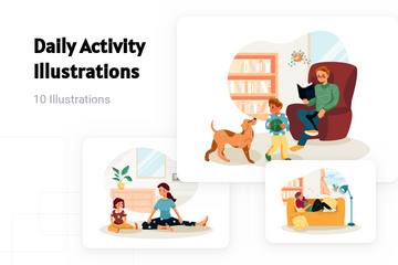 Daily Activity Illustration Pack
