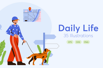 Daily Lifestyle Illustration Pack