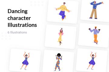 Dancing Character Illustration Pack