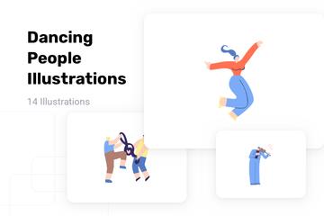 Dancing People Illustration Pack