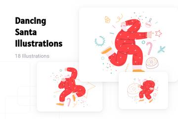 Dancing Santa Illustration Pack