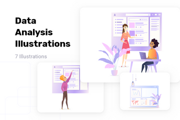 Data Analysis Illustration Pack