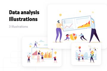 Data Analysis Illustration Pack