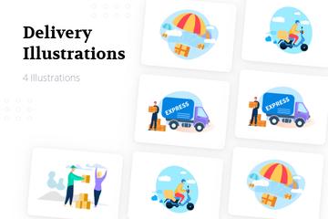 Delivery Illustration Pack