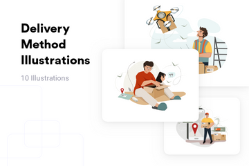 Delivery Method Illustration Pack