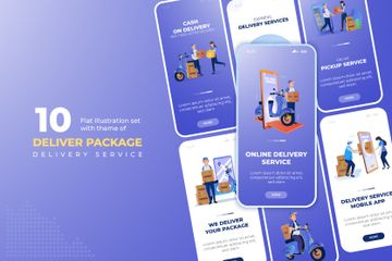 Delivery Package Illustration Pack