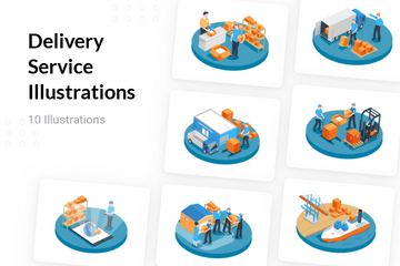 Delivery Service Illustration Pack