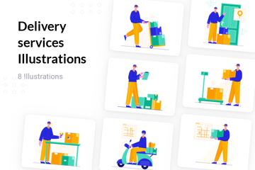 Delivery Services Illustration Pack