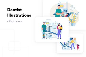 Dentist Illustration Pack