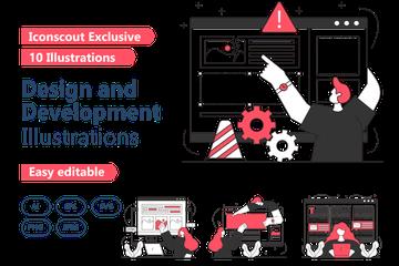Design And Development Illustration Pack