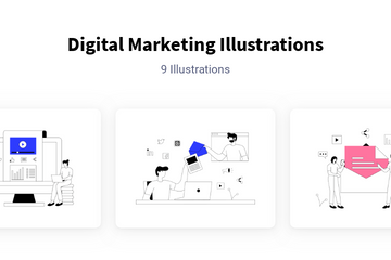 Digital Marketing Illustration Pack