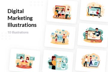 Digital Marketing Illustration Pack