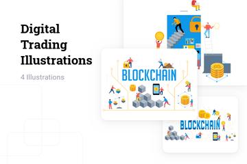 Digital Trading Illustration Pack