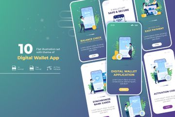 Digital Wallet Application Illustration Pack