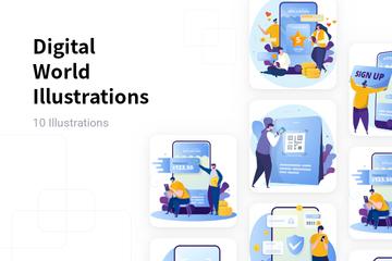 Digital World Illustration Pack