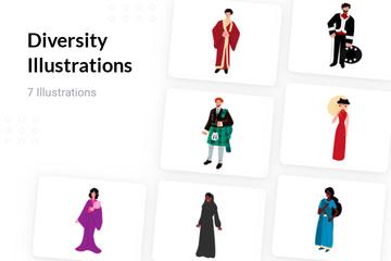 Diversity Illustration Pack