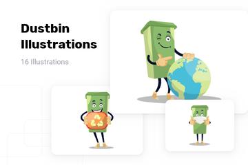 Dustbin Illustration Pack