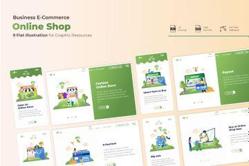 E-commerce Online Shopping Illustration Pack