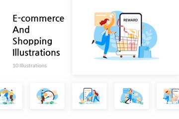 E-commerce And Shopping Illustration Pack