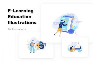 E-Learning Illustration Pack