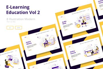 E-Learning Education Vol 2 Illustrations