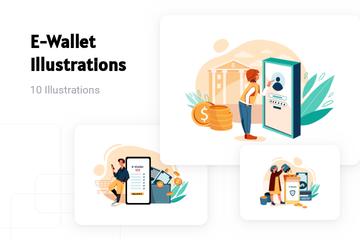 E-Wallet Illustration Pack