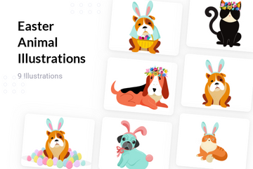 Easter Animal Illustration Pack