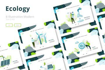 Ecology Sets Illustration Illustration Pack
