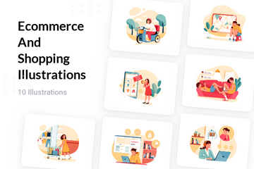 Ecommerce And Shopping Illustration Pack