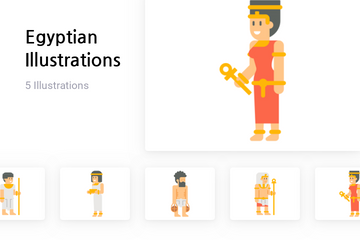 Egyptian Culture Illustration Pack